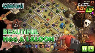 Clash of Clans⭐OMG!! BEAUTIFUL HOG ATTACK & LAVALOON ATTACK STARTEGY