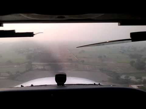Aligarh Airport...approach and landing on runway 29.mp4