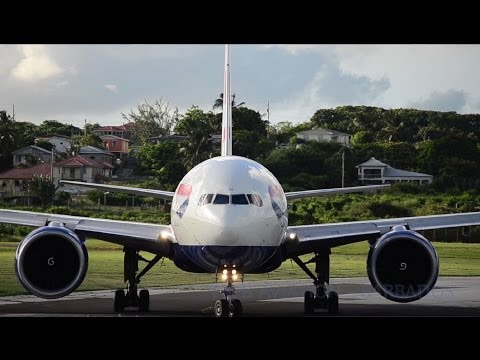 British Airways 777-200 GE-90 Special (Barbados and St Kitts) HD 1080p !!!!!