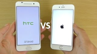 Speed and Camera performance comparison of New HTC One A9 and iPhon...