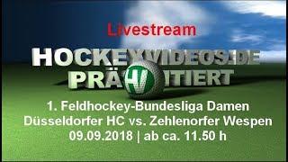 1. Feldhockey-Bundesliga Damen DHC vs. Zehld.Wespen 09.09.2018 Livestream