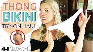 THONG BIKINI TRY ON HAUL | *NEW* Ami Clubwear