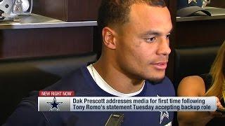 Dak Prescott Responds to Tony Romo's Statement on Cowboys & QB Situation | NFL
