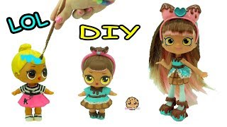 DIY Custom Painted Shopkins Shoppies Inspired LOL Surprise Baby Doll - Craft Video thumbnail