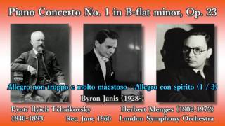 Tchaikovsky: Piano Concerto No. 1, Janis & Menges (1960) チャイコフスキー ピアノ協奏曲第1番 ジャニス thumbnail