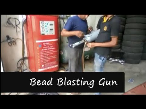 Bead Blasting Technique for Motorcycle Tyre Fitting