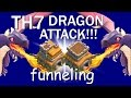 Th7-dragon attack strategy-clash of clans