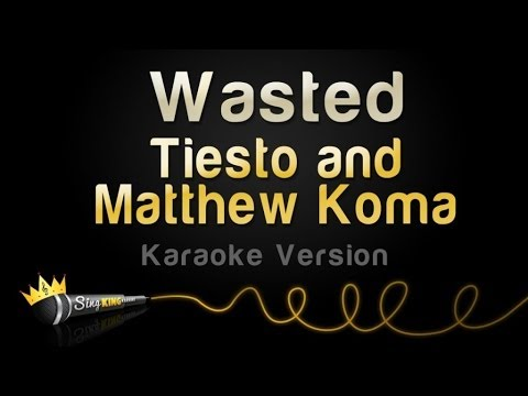 Tiesto and Matthew Koma - Wasted (Karaoke Version)