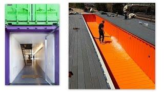 屳 Habitat container maison piscine _ +33 (0)6 30 66 78 63 #Maison #Containerpiscine #Lyon 👕👚