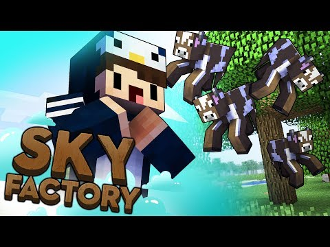 Minecraft Sky Factory - GROWING COWS #6