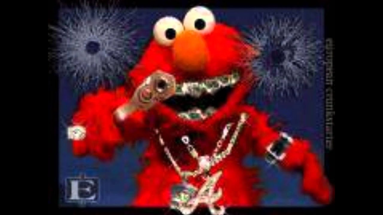 Elmo Kills Barney - YouTube  Elmo And Cookie Monster Gangster