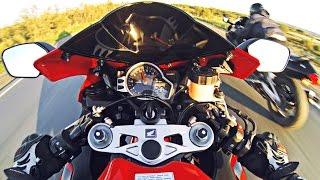 Прохват с друзьями на мотоциклах - безбашенные гонщики :D