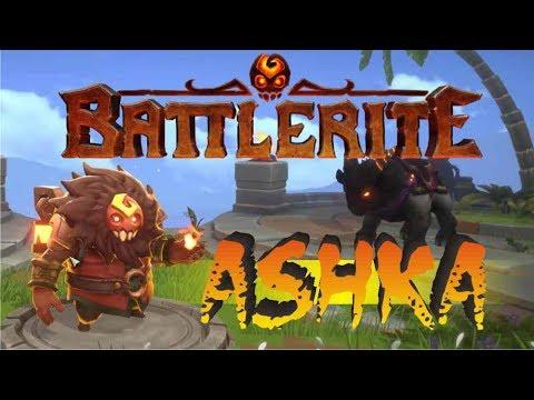 видео: ashka быстрый обзор на героя battlerite. маг огня