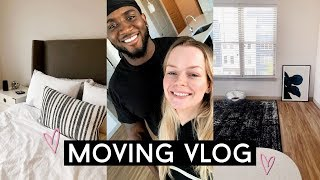 MOVING VLOG! getting the keys & new apartment decor