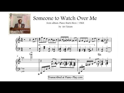 Art Tatum - Someone to Watch Over Me / from album: Piano Starts Here / 1968 (transcription)