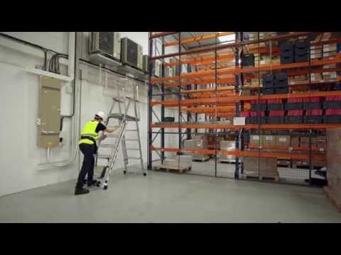 ZARGES Z600 ZAP Telescopic Platform Ladder