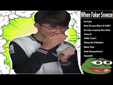 SKT Faker Interview | Twitch Chat when Faker Sneezed