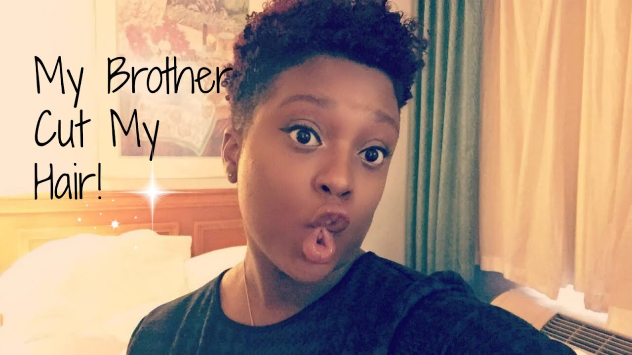 Watch My Brother Cut My Hair!! - YouTube