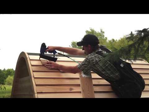 Red Cedar POD Sauna by Dundalk LeisureCraft Assembly Video