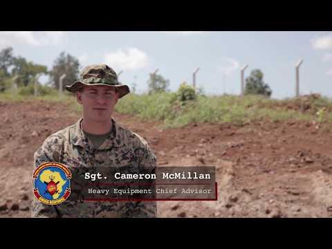 U.S. Marines train Uganda People's Defence Force soldiers