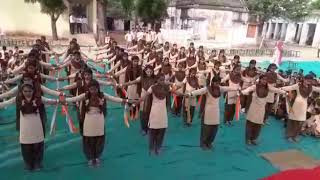 School ki girls    physical   exercise