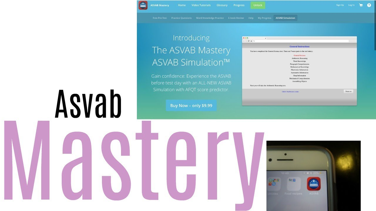 ASVAB Mastery App And Website REVIEW