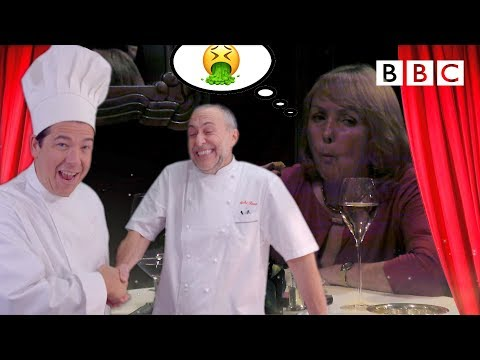 Michael McIntyre and Michel Roux TRICK woman into eating her own food in Michelin Restaurant 😂 - BBC
