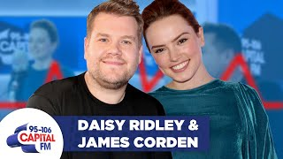 James Corden and Daisy Ridley take the 'LIE DETECTOR CHALLENGE'