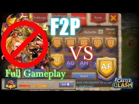 Castle Clash - F2P Vs HBM AF_ [Without Anubis_Michael_Gunslinger] FINALLY!