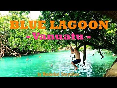 See the Stunning Vanuatu Blue Lagoon on Efate Island