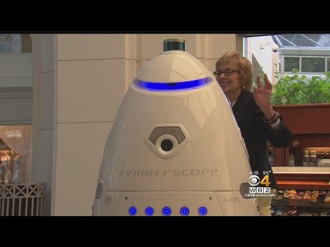 High-Tech Security Robot Patrolling Prudential Center