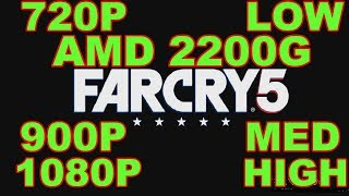 Far Cry 5 Gaming Amd 2200G Benchmark