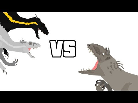 DBP Episode 21: Indominus Rex Vs 2x Indoraptors (Mini Collab With Allosaurus16 And Gummer)