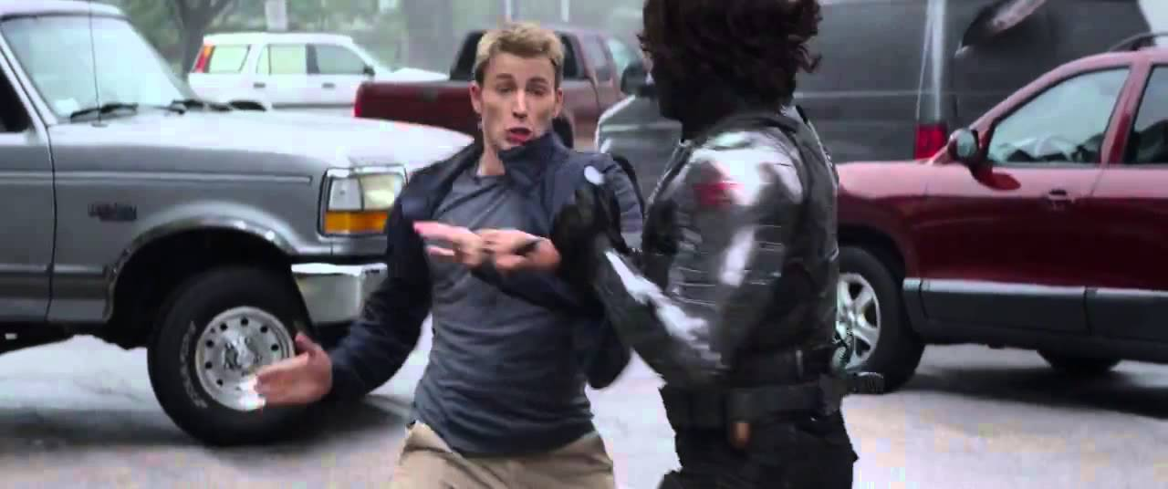 Captain America The Winter Soldier Highway Fight Scene