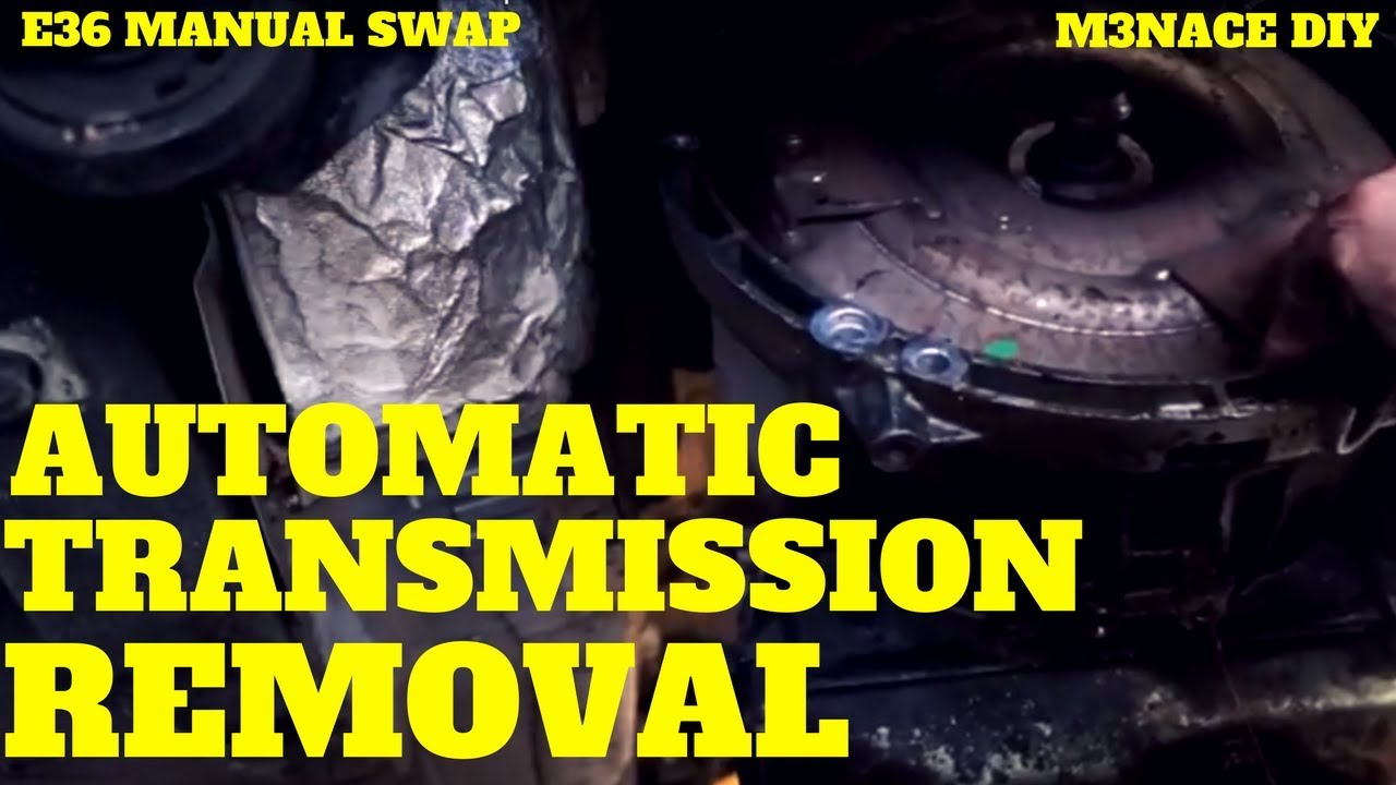 hight resolution of e36 automatic transmission removal e36 manual swap