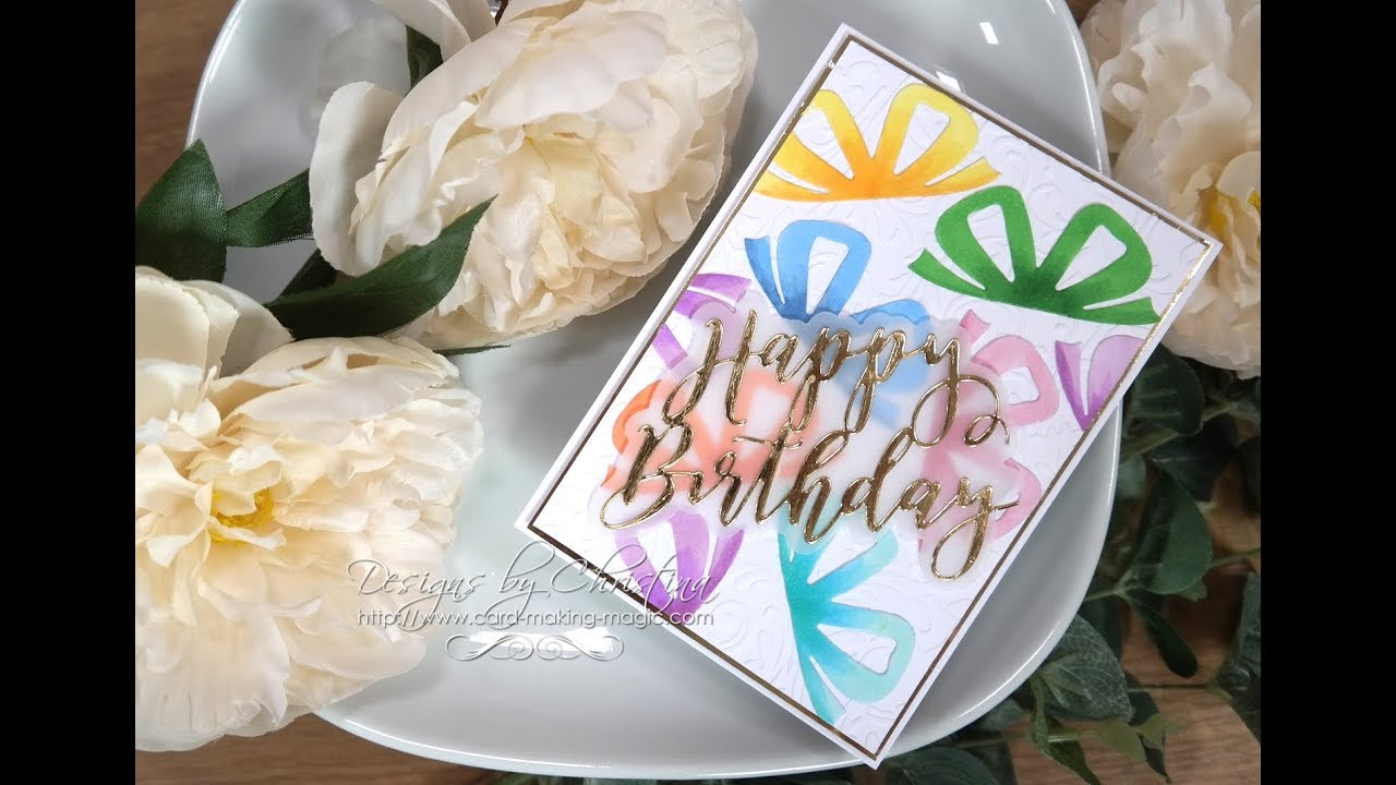 Card Making Magic Present Birthday