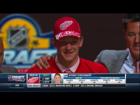 2015 NHL Draft: #19 Overall Pick – Evgeny Svechnikov – Detroit Red Wings