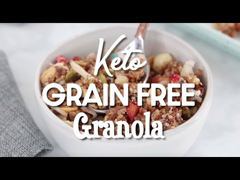 No Bake Keto Strawberry Grain Free Granola Recipe