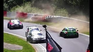 Crash Nurburgring Nordschleife during WTCC race 24h 2017