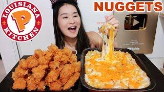 Popeyes NEW Chicken Nuggets & CREAMY Chicken Alfredo Pasta! Crispy Chicken & Cheesy Pasta Mukbang
