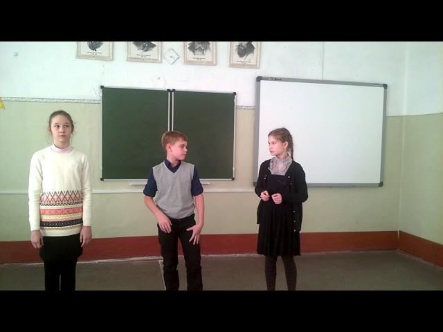 Изображение предпросмотра прочтения – «Учащиеся 5 В класса» читают произведение «Ворона и Лисица» И.А.Крылова