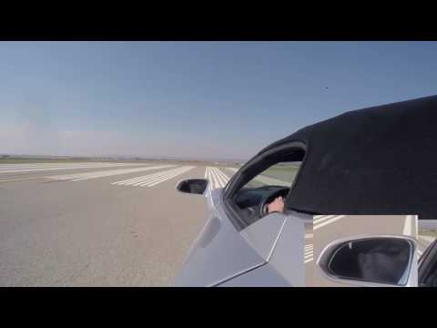Aaron taking the lambo down the runway at springbank airport