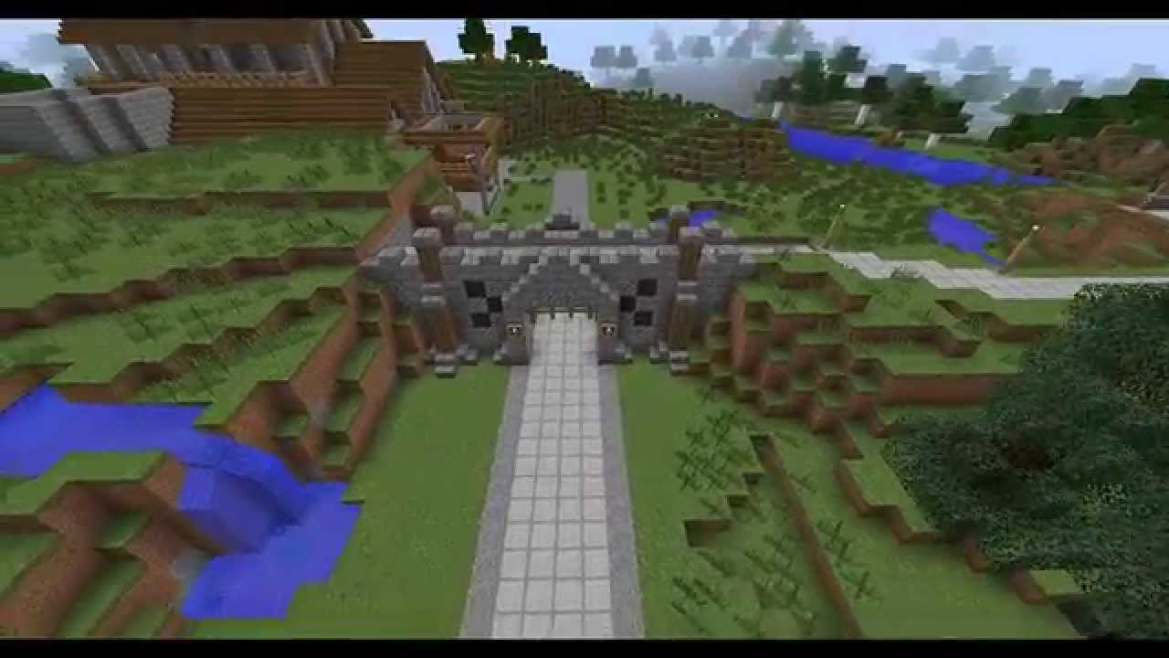 Minecraft Building Ideas! 3: Village Wall And Gate