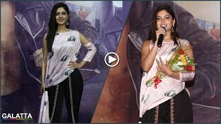 Hidden Talent Revealed   Sakka Podu Podu Raja Heroine Vaibhavi Shandilya Sings on Stage
