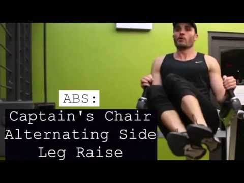 Abs Captain's Chair Alternating Side Leg Raise