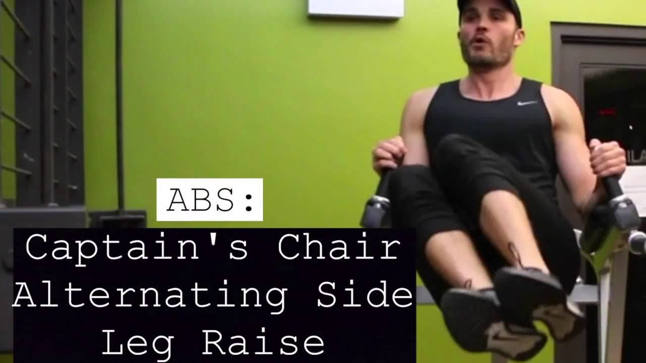 Abs Captain S Chair Alternating Side Leg Raise Youtube
