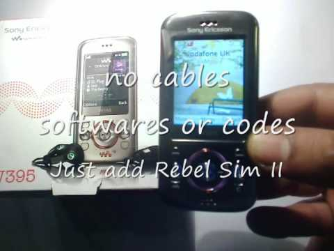rebel sim ii unlocking sony Ericcson W395 to use on any network