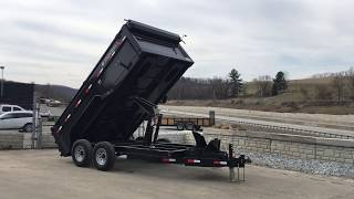 Ironbull 7x14' 14000# Low Profile Hydraulic Dump Trailer 3' High Sides