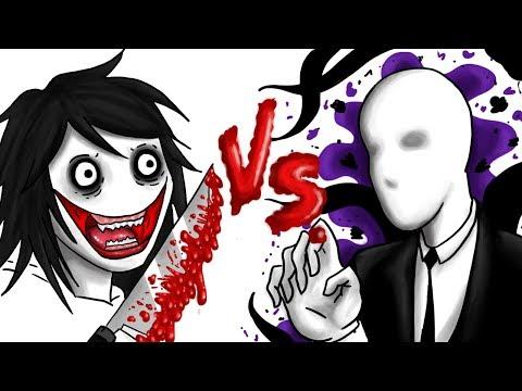 JEFF THE KILLER VS SLENDERMAN | Draw My Life + SORTEO 🎁