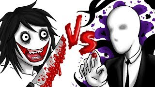 JEFF THE KILLER VS SLENDERMAN | Draw My Life creepypasta